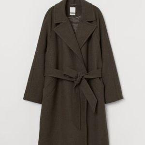 Wool-blend Belted Coat H&M
